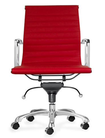 Aluminum Group Management Chair - Red L