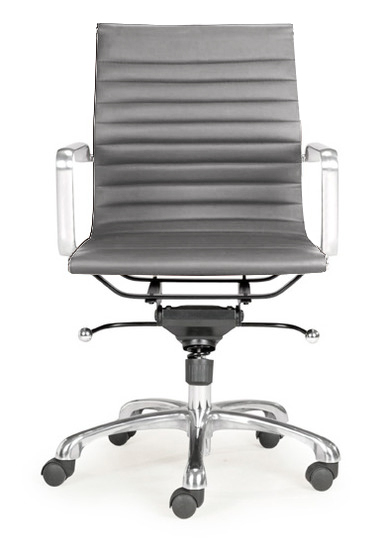 grey low back ag office chair