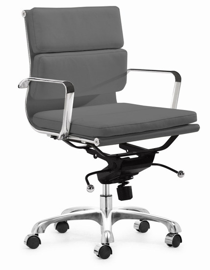 Executive Soft Pad Office Chair Grey - Grey office chair
