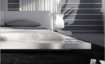 Japanese Style Platform Bed Queen - Glossy White