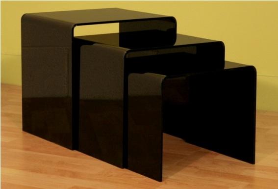 Carolina clear acrylic nesting tables for Advance interior designs