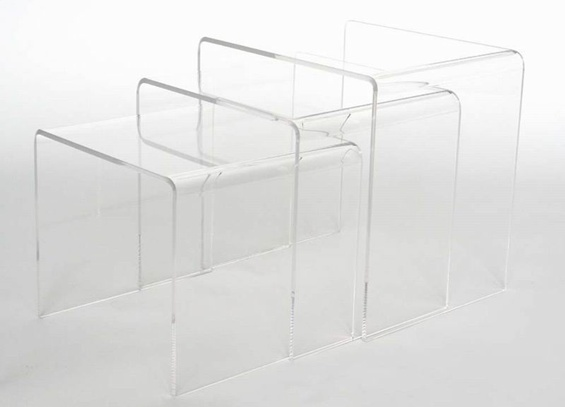Carolina black acrylic nesting tables layeracryliccoffeetable layeracryliccoffeetable watchthetrailerfo
