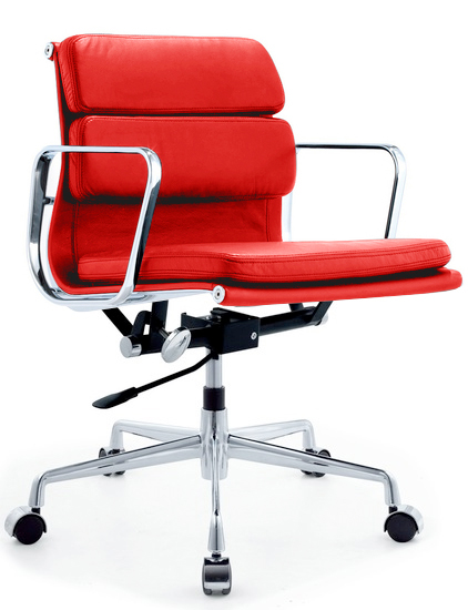 red sof pad alum chair red 1