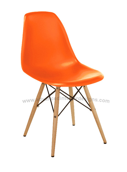side chair orange - dowel