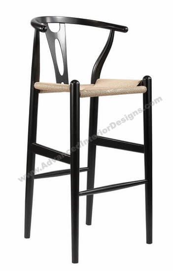 wishbone stool black 1