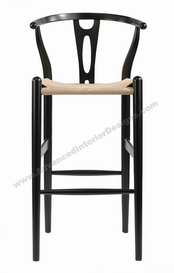 wishbone stool black 2