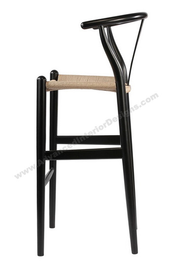 wishbone stool black 3