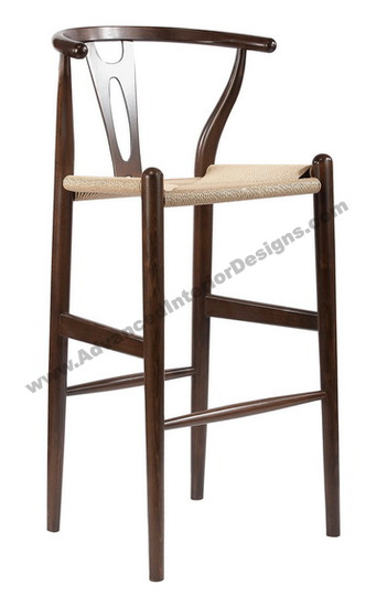 wishbone stool brown 1