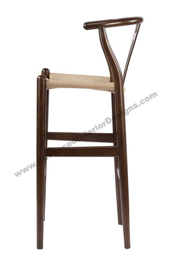 wishbone stool brown 3