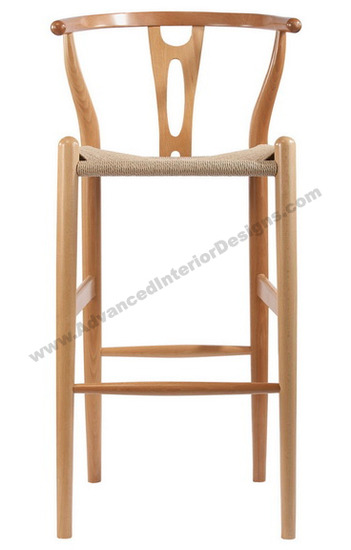 wishbone stool natural 2