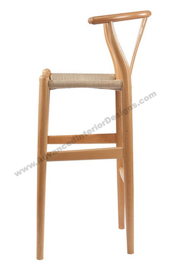 wishbone stool natural 3