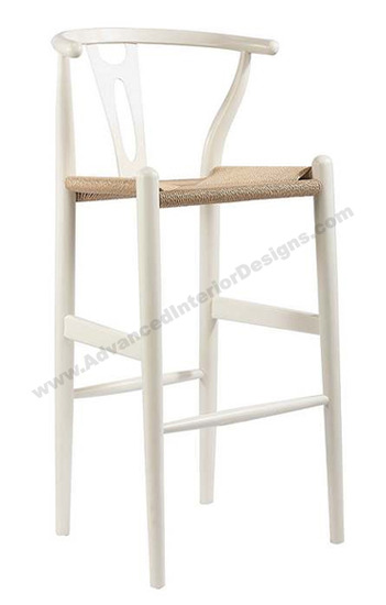 wishbone stool white 1