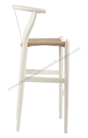 wishbone stool white 2