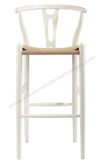wishbone stool white 3