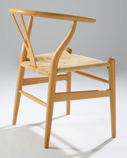 wishbone chair orange