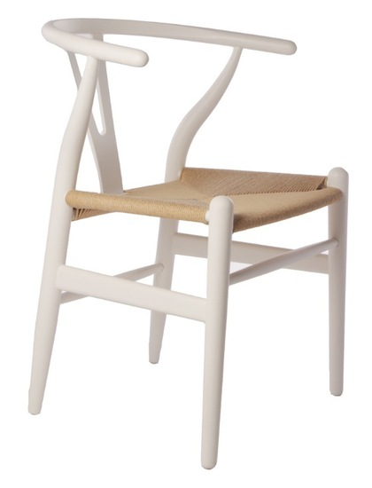 wishbone chair white. Black Bedroom Furniture Sets. Home Design Ideas