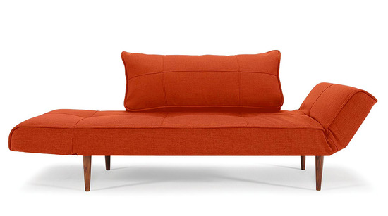 Zeal deluxe sofa bed orange for Zeal sofa bed