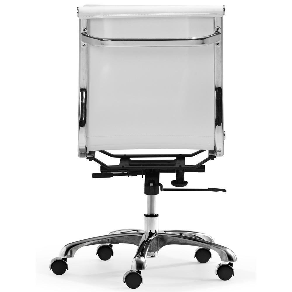 Lider Plus Armless Chair White Zuo Modern Jpg
