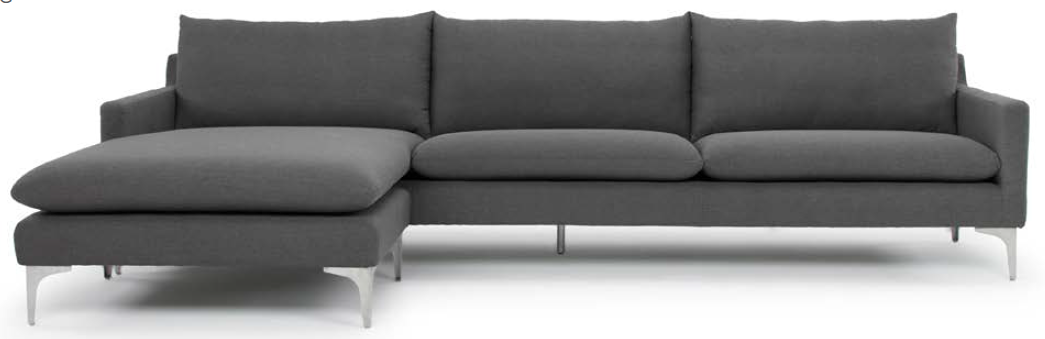 the nuevo living anders sectional sofa in slate grey