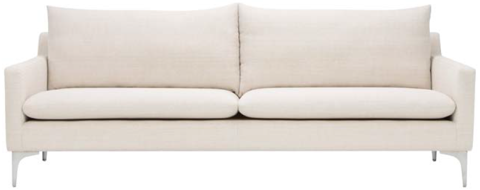 nuevo living anders sofa sand brushed stainless steel