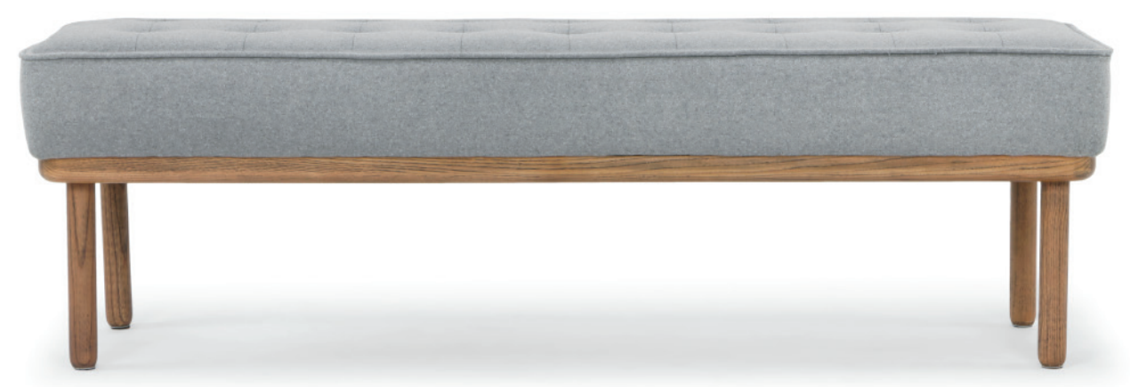 nuevo living arlo occasional bench light grey