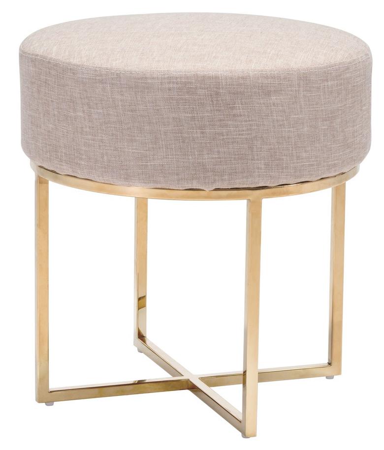 zuo modern bon stool beige stainless