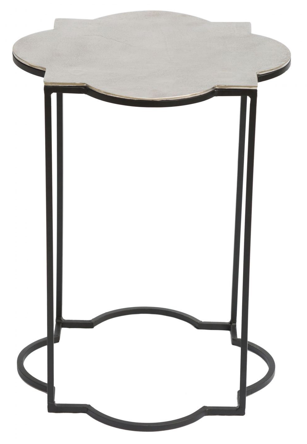 zuo brighton accent table black white