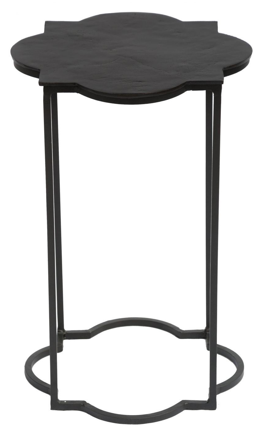 brighton accent table black white