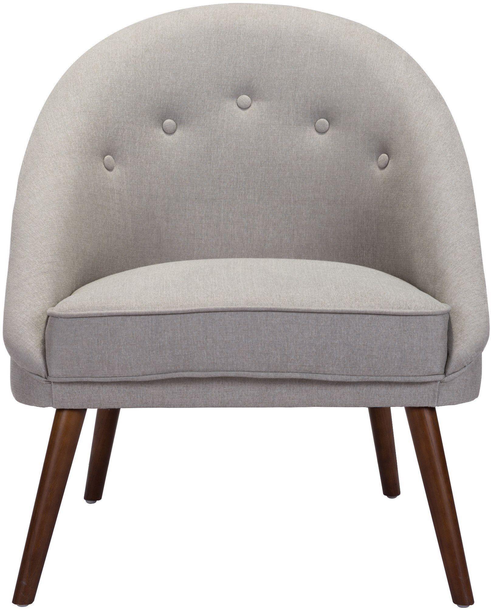 zuo modern carter occasional chair light gray