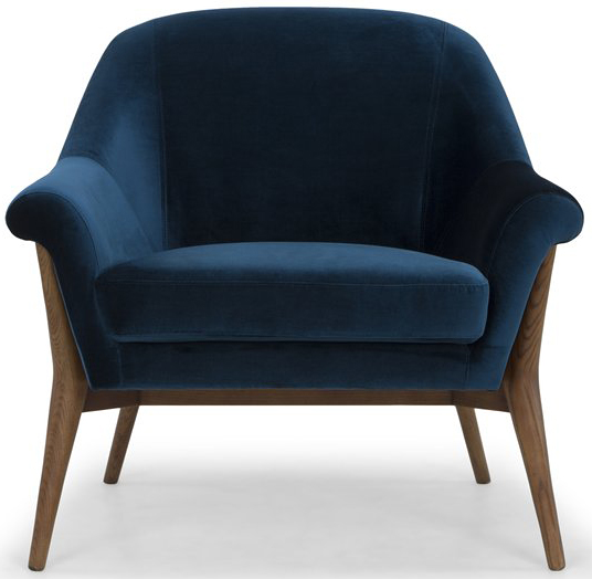 nuevo living charlize occasional chair midnight blue