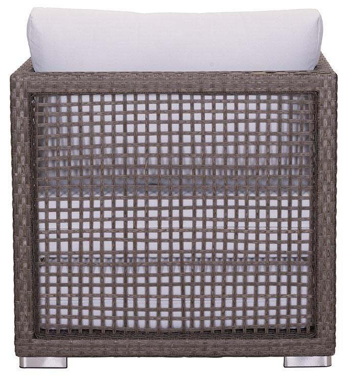 coronado arm chair cocoa light gray