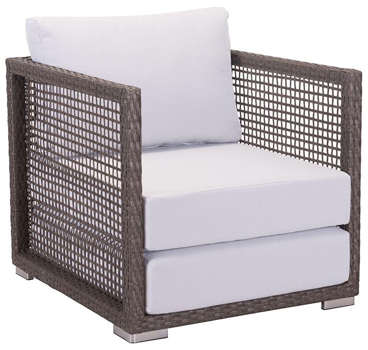 zuo modern coronado arm chair cocoa light gray