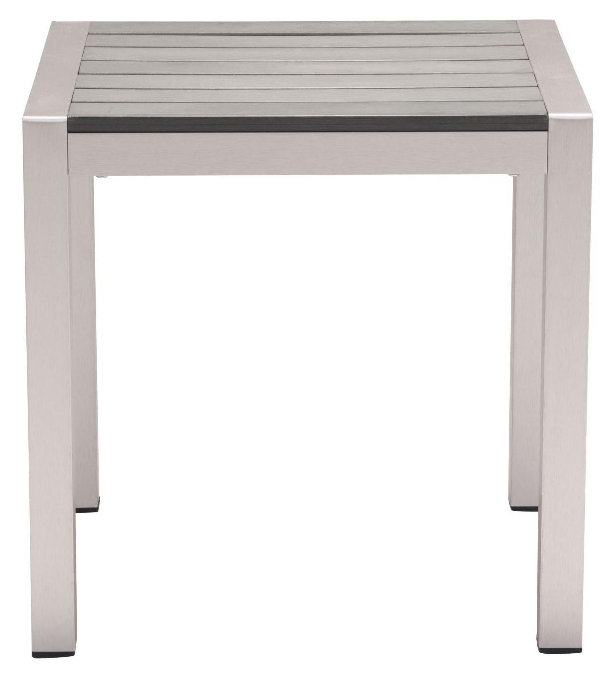 cosmopolitan side table b aluminum