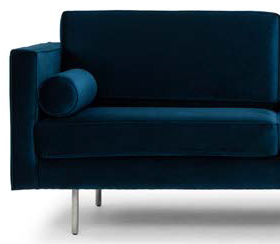 nuevo living cyrus three seater midnight blue