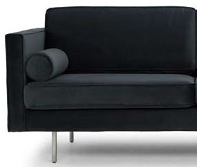 nuevo living cyrus three seater shadow grey