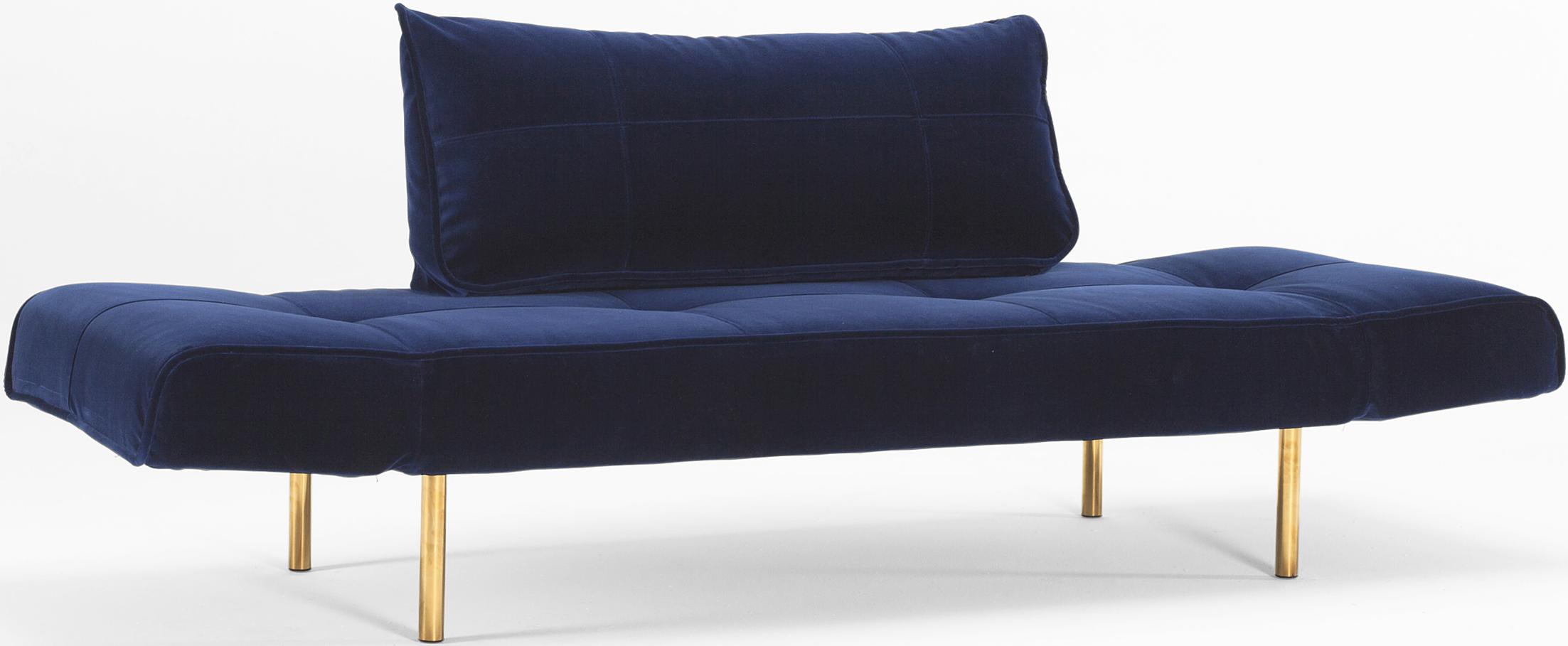 daybed zeal velvet blue
