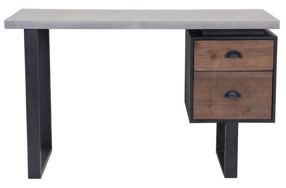 den desk old fir and metal