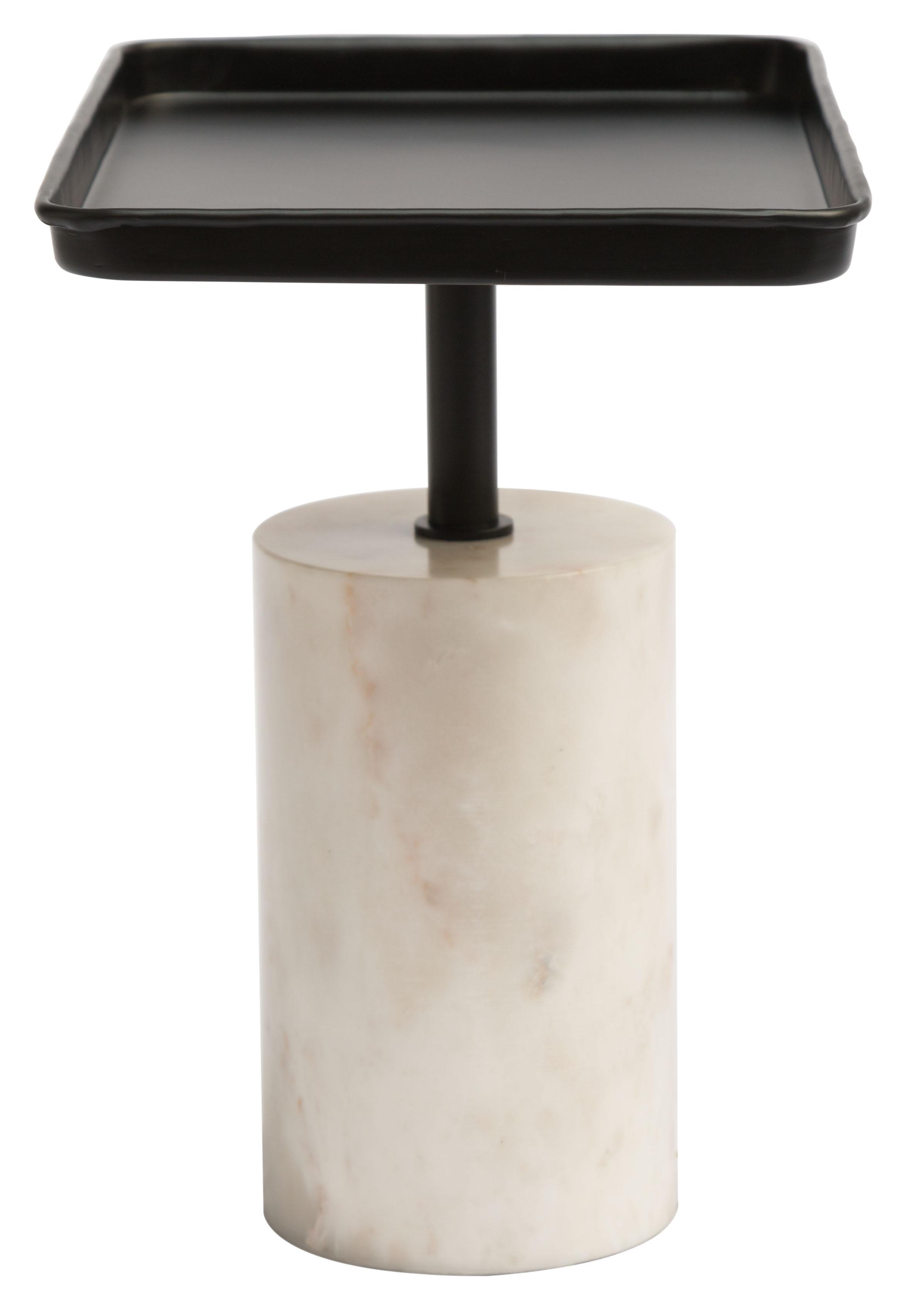 dover accent table black white