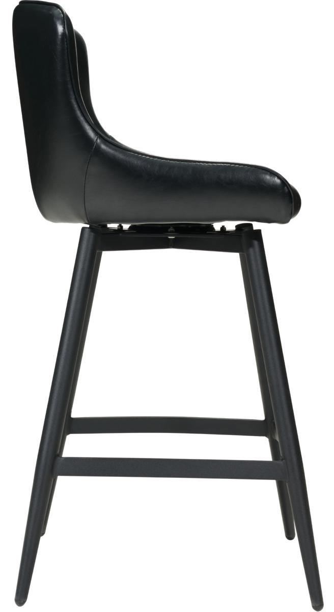 zuo modern dresden swivel barstool black