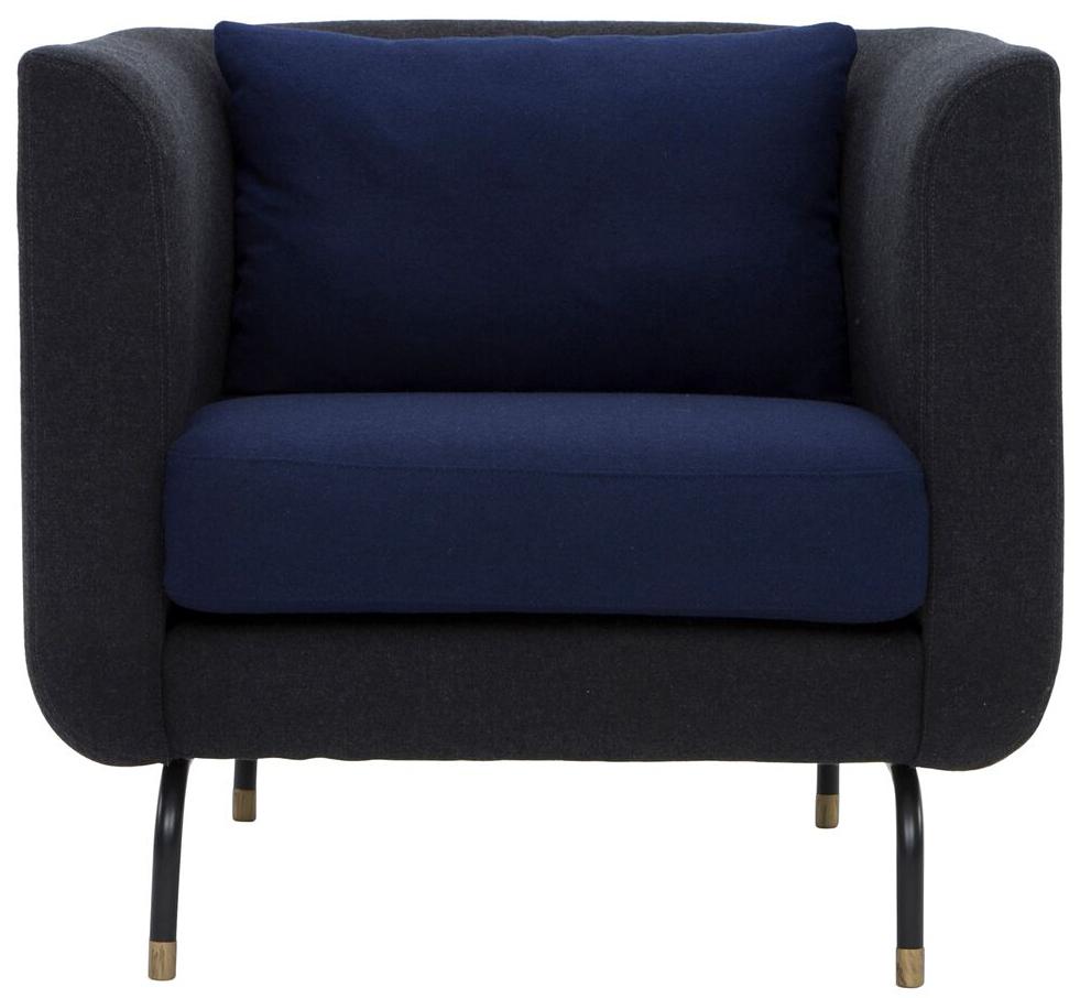 nuevo living gabriel single chair dark grey navy blue