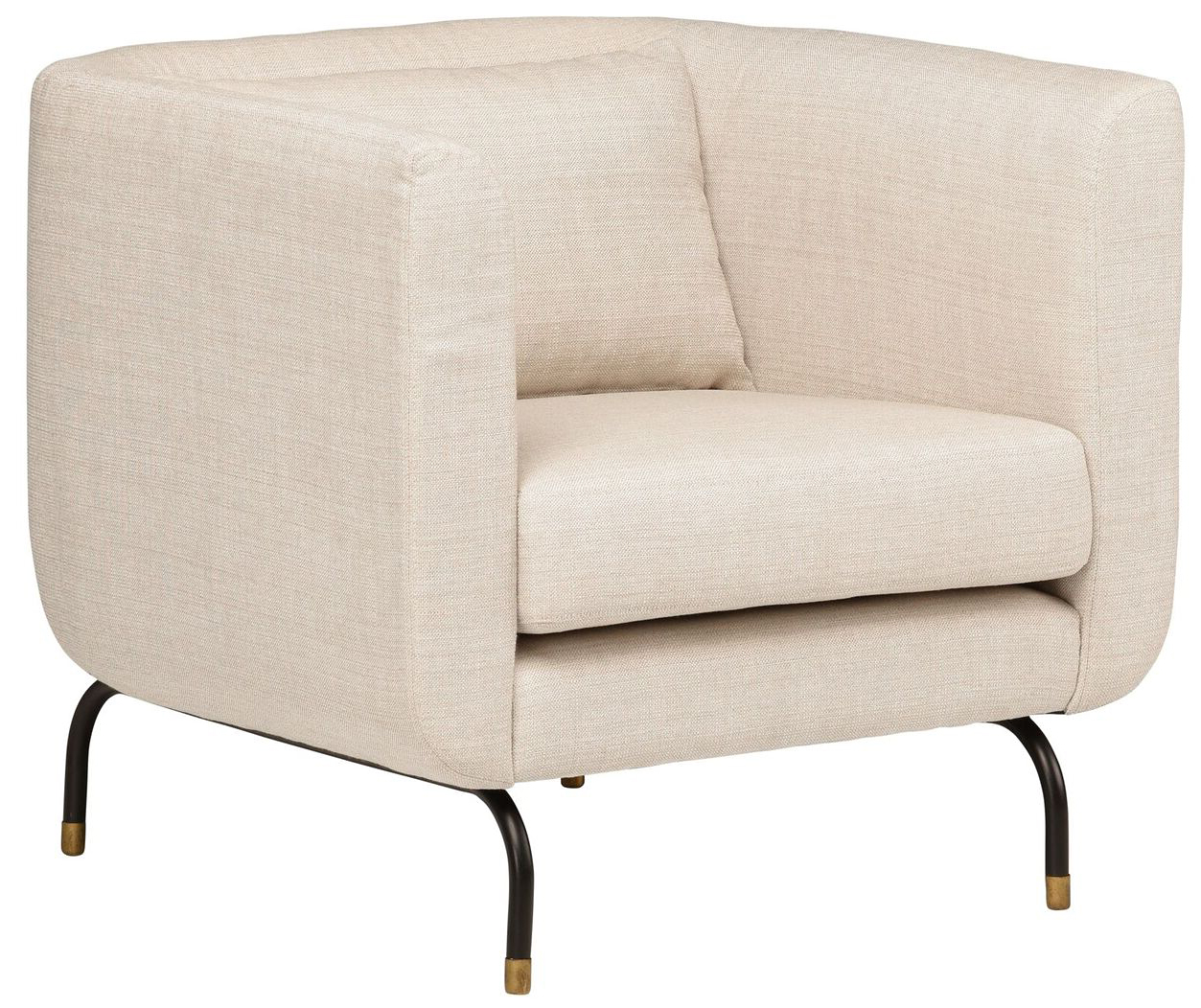 nuevo living gabriel single chair sand