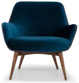 nuevo living gretchen occasional chair midnight blue