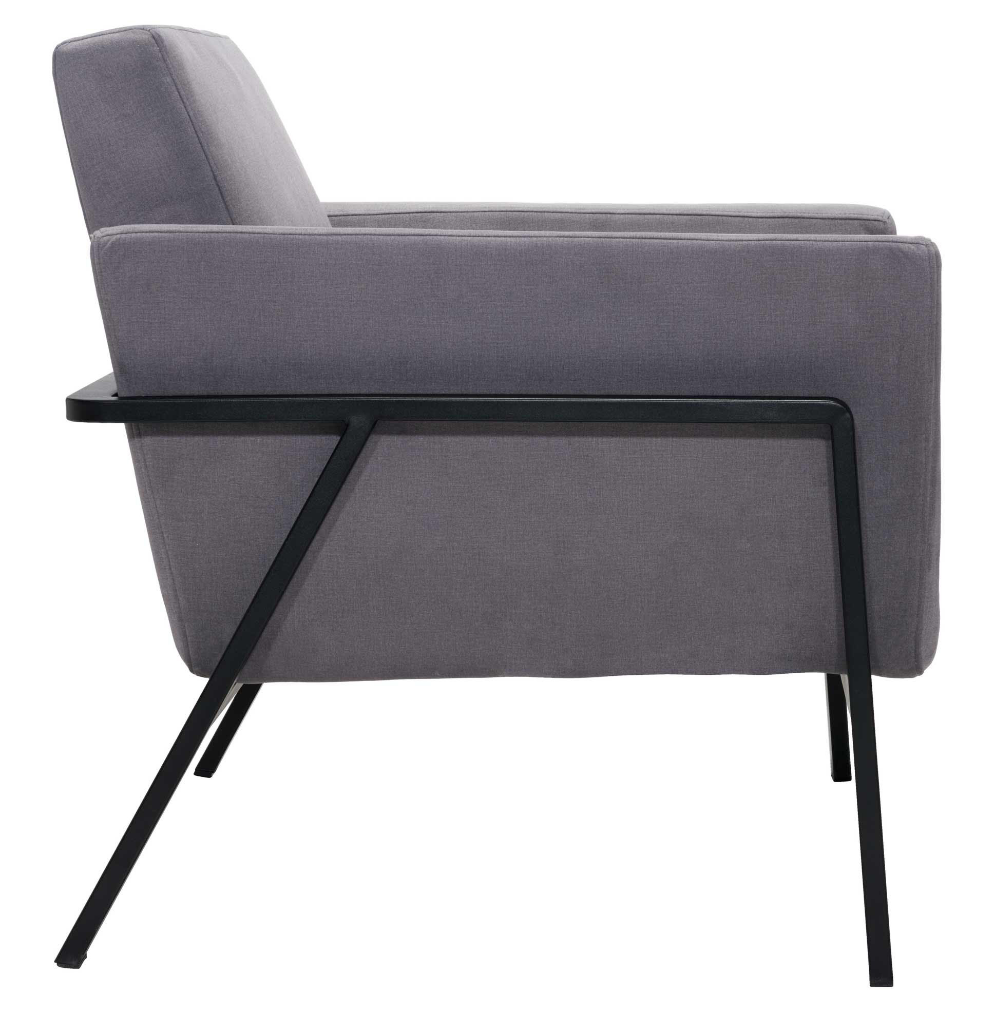 zuo modern homestead lounge chair gray cashmere