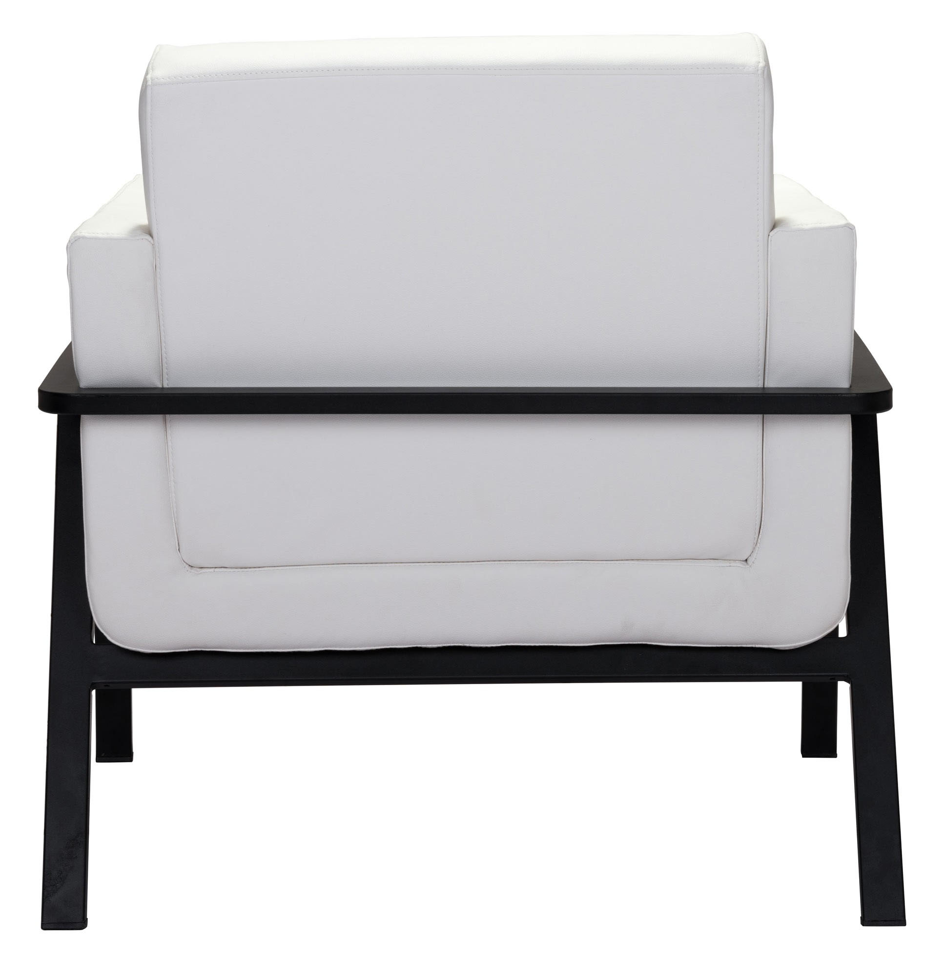 zuo modern homestead lounge chair white leatherette