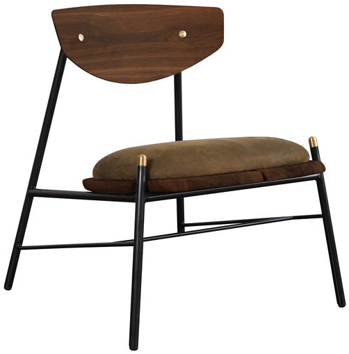 nuevo living kink occasional chair jin green leather
