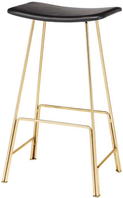 nuevo living kirsten stool seat polished gold