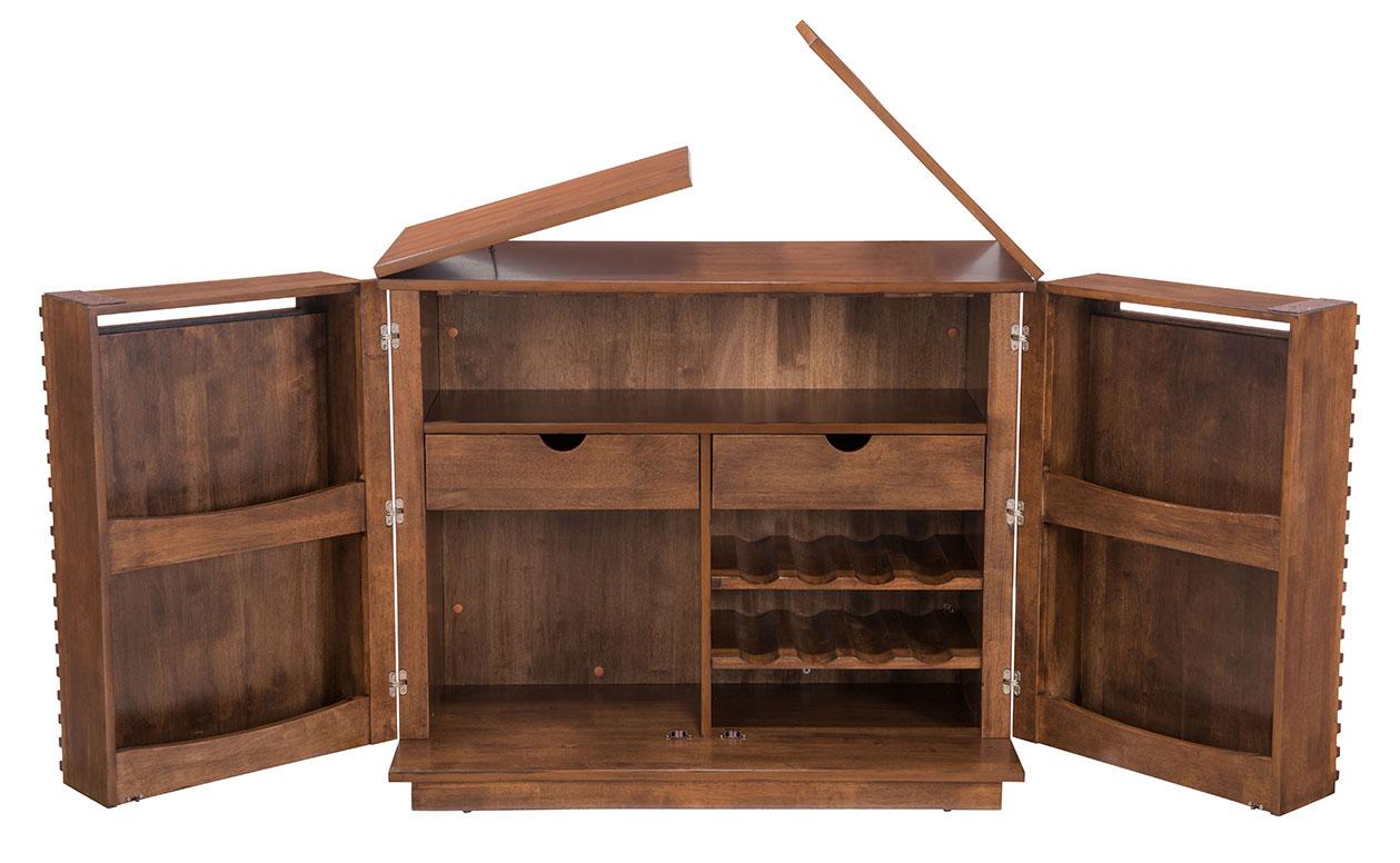 zuo linea bar cabinet walnut