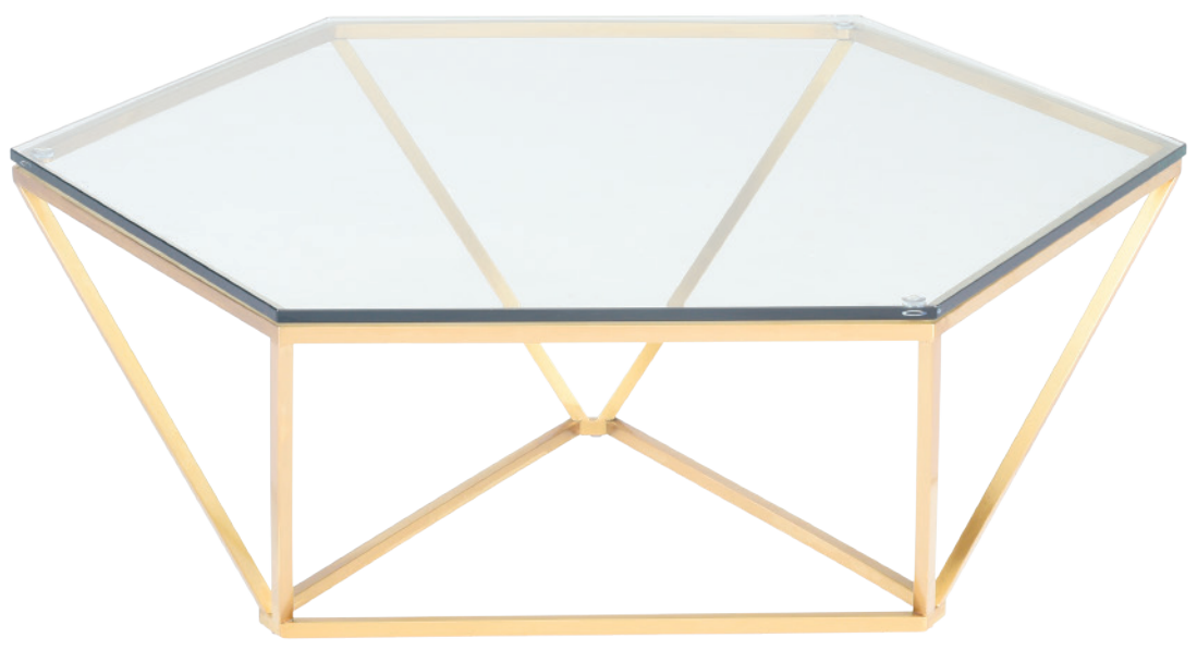 nuevo living louisa coffee table brushed gold