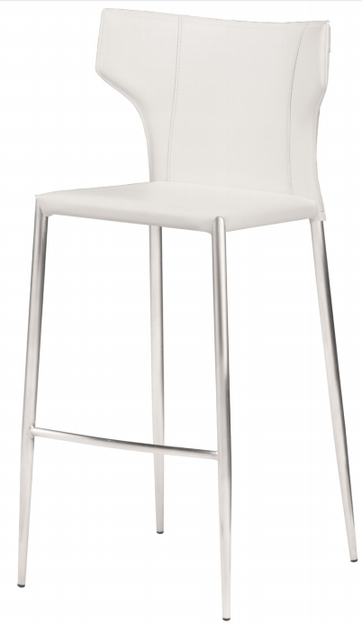nuevo wayne bar stool in white