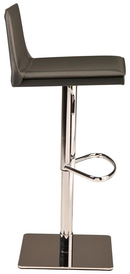 palma adjustable stool black leather
